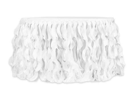 curly willow ft table skirt white   dessert