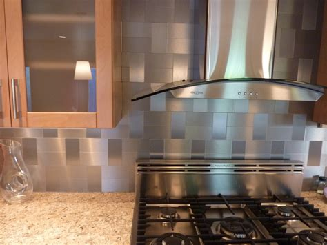 Peel And Stick Stainless Steel Backsplash : Self-adhesive Stainless Backsplash Tiles