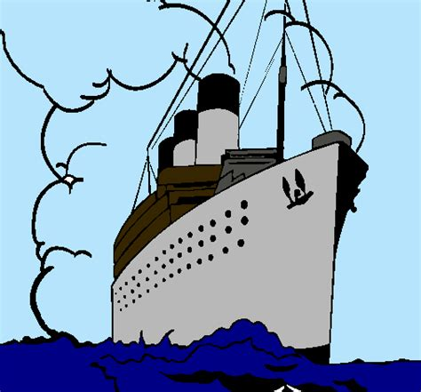 Barcos De Vapor Animados by Dibujo De Barco De Vapor Pintado Por Titanic En Dibujos