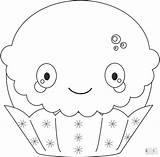 Kawaii Coloring Cupcake Pages Dessert Christmas Printable Desserts Popular 43kb 1500 Categories sketch template