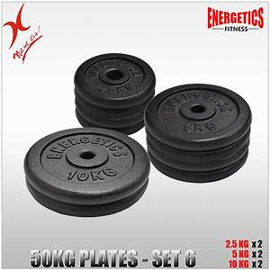 Total 50kg Cast Iron Weight Plate Set