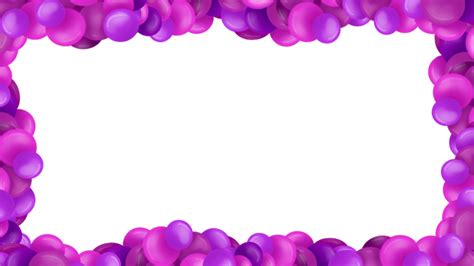 Pink and Purple Bubble Border