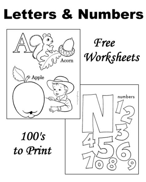 worksheets learning letters  numbers