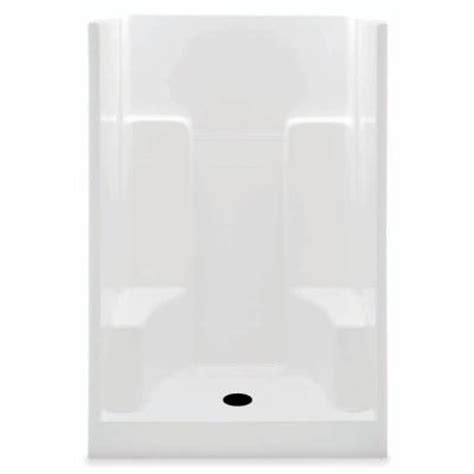 aquatic 48 in x 35 in x 72 in gelcoat shower stall in