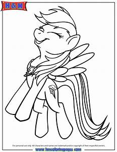 My Little Pony Rainbow Dash Coloring Page | H & M Coloring ...