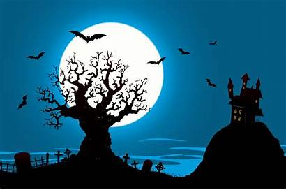 Halloween Haunted Tree Spookhuis Poster Casa Evil