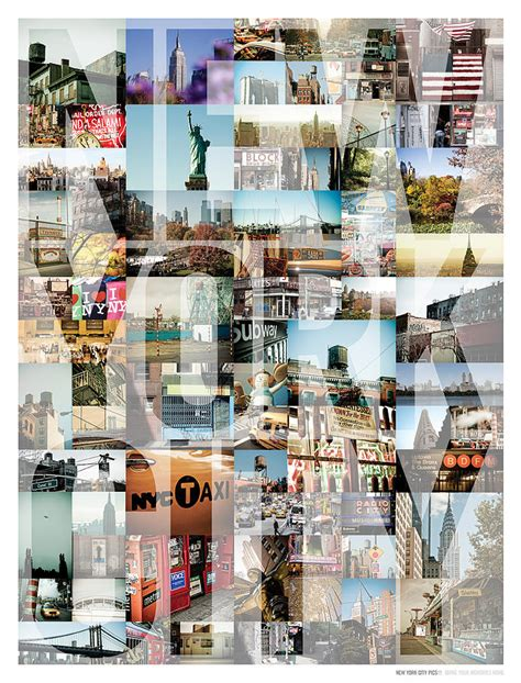 New York City Montage Type Photograph By Darren Martin