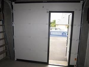 porte garage avec portillon 20170827025612 arcizocom With porte de garage enroulable avec porte intérieure avec hublot
