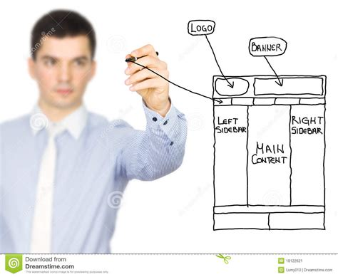 web design sketch stock image image  business computer