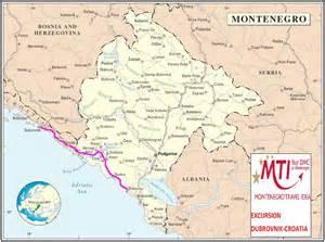 Dubrovnik Map Croatia Montenegro