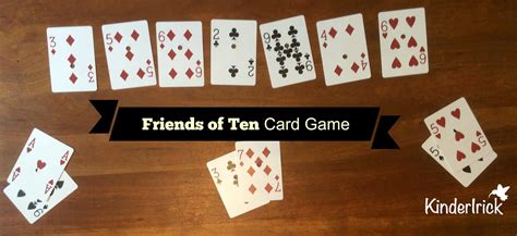 This simple card game helps kids quickly get better at knowing the pairs of numbers that add up to ten: Friends of Ten   KinderIrick