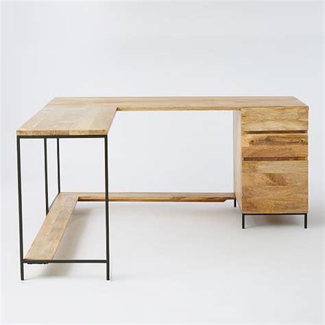 west elm industrial desk industrial modular desk set west elm