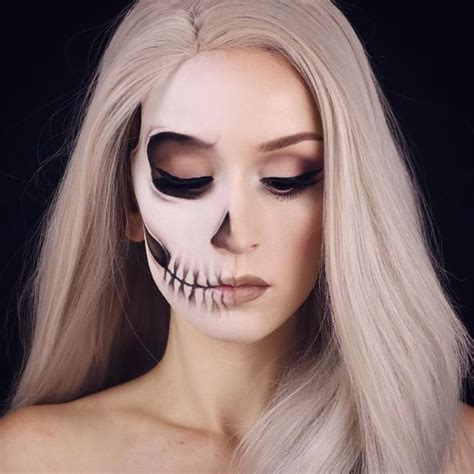 spooky skeleton makeup ideas   wear  halloween