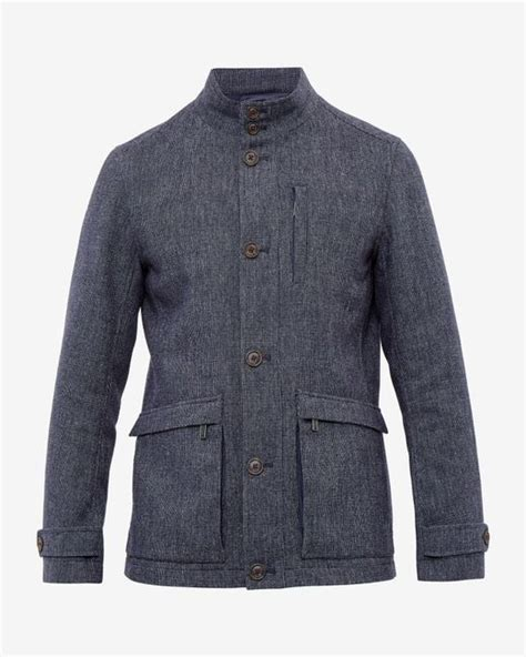 ted baker quilted jacket ted baker removable quilted lining jacket in blue for