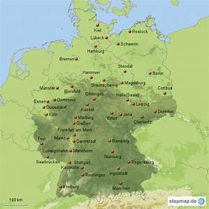 Schönsten Städte Deutschland : gro e und kleine st dte in deutschland von maxi76 landkarte f r deutschland alle bundesl nder ~ Frokenaadalensverden.com Haus und Dekorationen