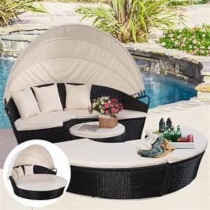 liegeinselinselloungesetgartenmobelgartenbalkon With französischer balkon mit lounge sessel garten rund