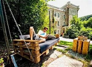 Balancelle De Jardin En Bois : salon de jardin en palette id es diy et conseils d co ne pas manquer ~ Teatrodelosmanantiales.com Idées de Décoration