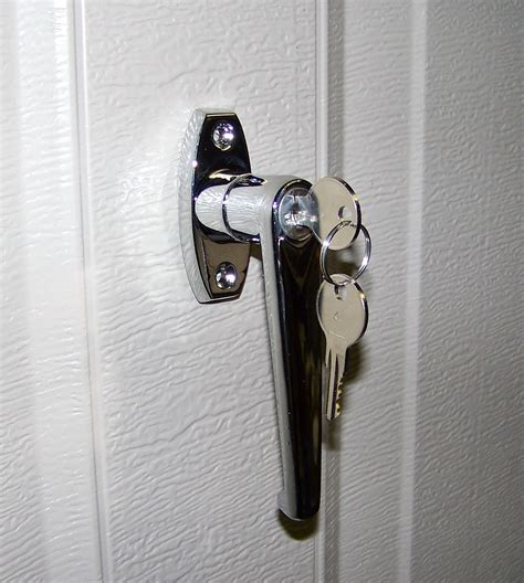 garage door lock handle garage door lock
