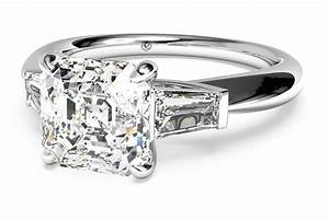 five awe inspiring asscher cut engagement rings ritani With asscher cut diamond wedding rings