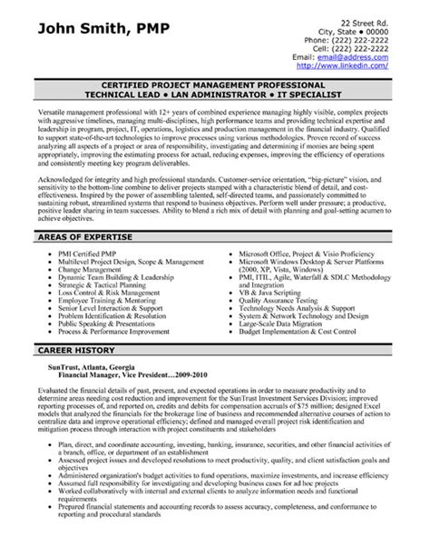 Professional Project Manager Resume Sles by Top Finance Resume Templates Sles