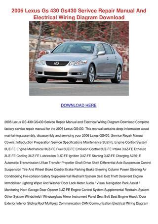 electric and cars manual 2006 lexus es electronic toll collection 2006 lexus gs 430 gs430 serivce repair manual by trinh bohmer issuu