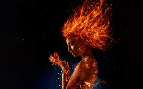 wallpaper  men dark phoenix sophie turner  hd