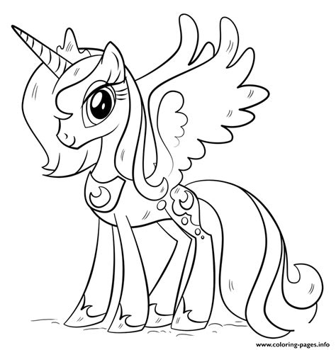 princess luna   pony coloring pages printable