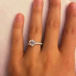 1 carat engagement rings this is it my engagement ring 1 5 carat solitaire center with 5 carat