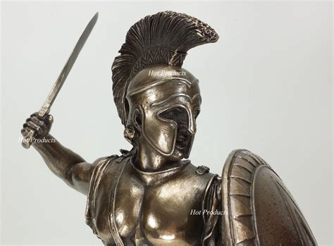 Set Of 2 *** Spartan Greek Warrior Statue Hoplite Shield