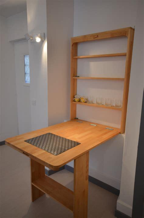 table cuisine escamotable ou rabattable table escamotable pour cuisine modulable la ressource
