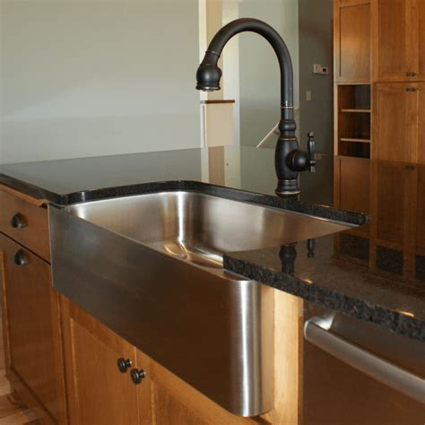 exposed kitchen sink farmhouse sinks with exposed apron reflections granite 3629