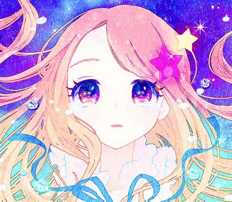 anime kawaii eyes gif beauty anime kawaii starry star anime girl anime eyes
