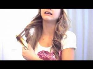Soft Loose Curls With A Straightener Hair Tutorial YouTube