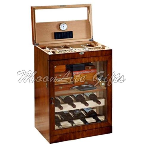 Cigar Humidor Cabinet Combo by Large Mahogany Finished Cigar Humidor And Liquor Cabinet