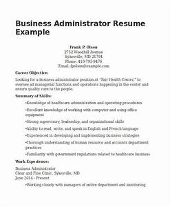 20 business resume templates pdf doc free premium With business administration resume sample