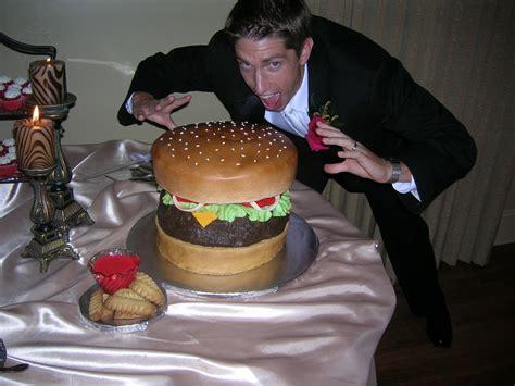 Hamburger Grooms Cake Onewedcom