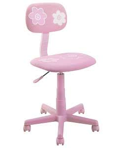 flower design gas lift swivel office chair pink review