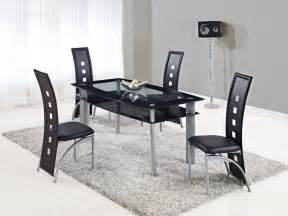 modern kitchen furniture sets extendable rectangular frosted glass top leather modern dining set with leaf york york