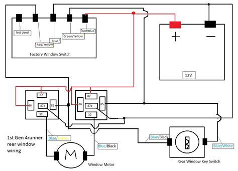 Wire Diagram 98 Toyotum 4runner by 1st 4runner Rear Window Re Wire Yotatech Forums