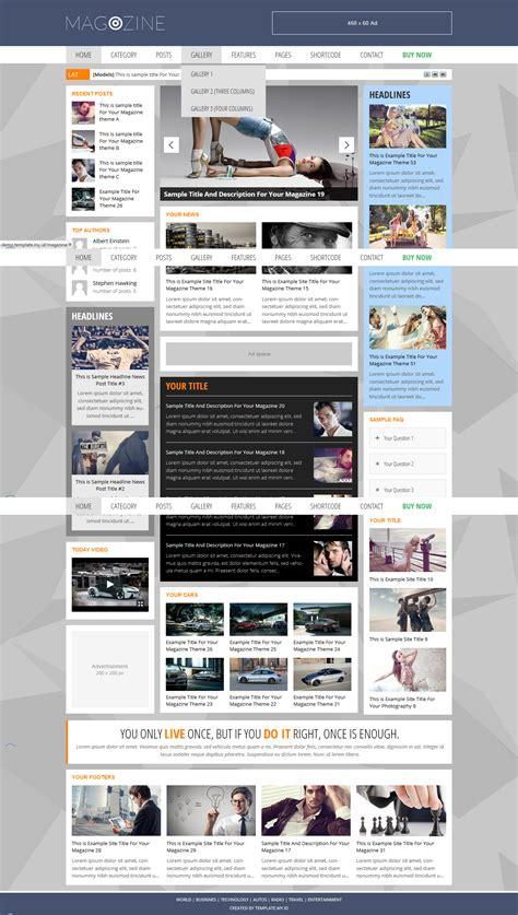 Magazine Wp Themes Magazine Magazine Theme