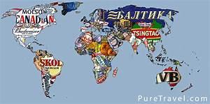 Carte Du Monde à Gratter Maison Du Monde : la carte du monde des marques de bi re une carte du monde ~ Teatrodelosmanantiales.com Idées de Décoration