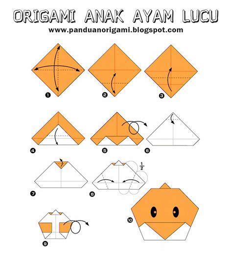 membuat origami anak ayam lucu panduan belajar