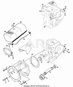 Gravely 35713 2 Wheel Tractor 5200  8hp  2 Sp Manual Start Parts Diagram For Fuel System And Exhaust