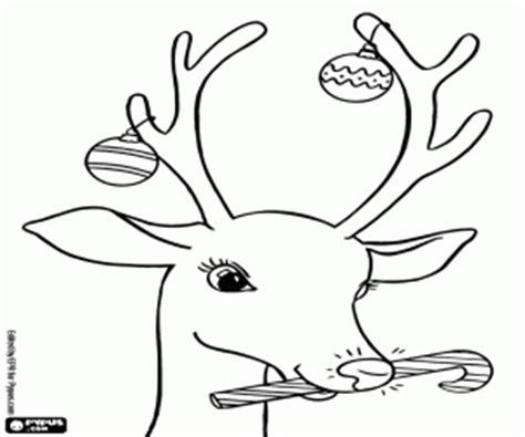 Rudolph Coloring Page - Ofertasvuelo