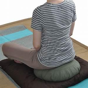 Silk, Sari, Zafu, Meditation, Cushion, With, Carry-all, Yoga, Bag