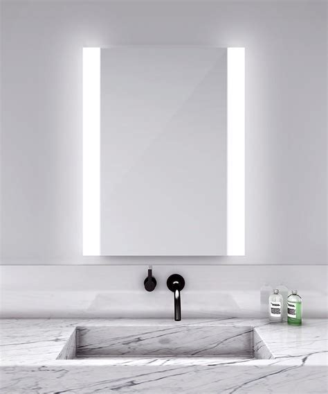Sonneman A Way Of Light by Novo Vertical Lighted Mirror By Electric Mirror Novo2836