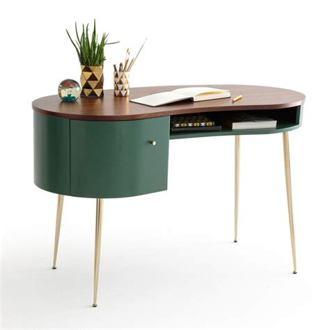 bureau vintage pas cher bureau vintage topim vert noyer la redoute interieurs