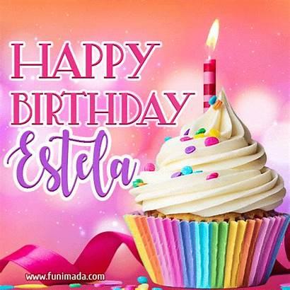 Estela Birthday Happy Lovely Animated Funimada