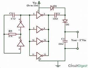 12v To 24v Voltage Doubler Circuit Diagram Using Ic 4049