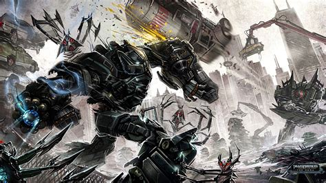 Transformers Dark Of The Moon Video Game Concept Art